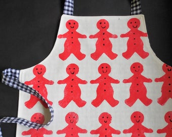 Kids Apron Gingerbread man print