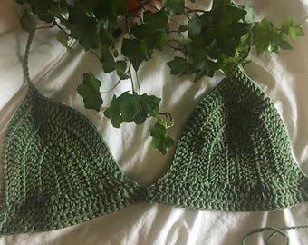 Karma's Crochet Apparel SAGE 100% Organic Cotton bralette