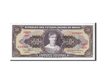 brazil 5 centavos on 50 cruzeiros 1966 km #184a unc(65-70) 039367