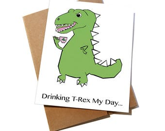 T Rex St. Patrick's Day card