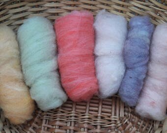 Stash Building Mixed Dyed Wool Batting
