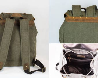 backpack sports bag backpack canvas leather 25