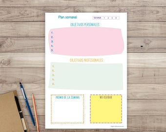 Weekly printable planner. Organizer agenda to print cheerful. Weekly Happy Planner.
