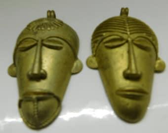 Bronze Mask Pendant