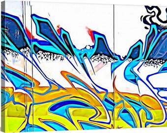 GM 3 - Streets To Canvas - Custom Graffiti Name Sign, Graffiti Art Canvas Print, Personalized Canvas Wall Art, Abstract Graffiti Canvas