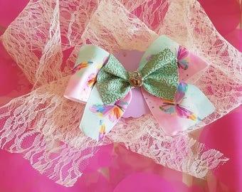 Butterfly locket bow
