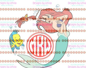 Little Mermaid Monogram