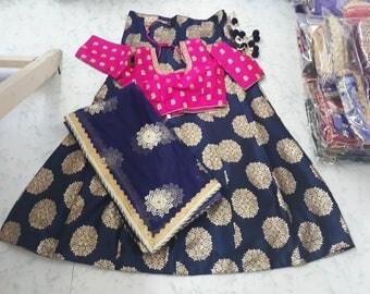 New Pink navy blue lehenga choli