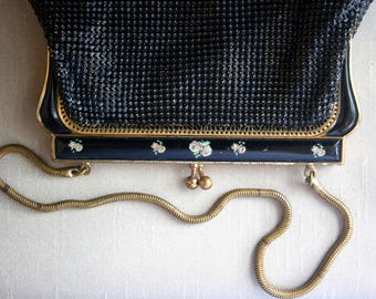 Oroton Vintage purse with rose detailing