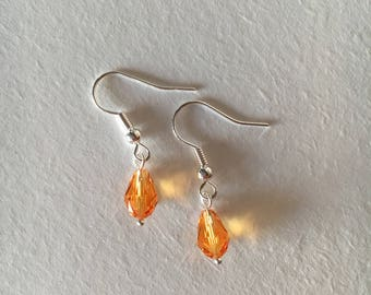 Yellow Swarovski Earrings
