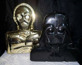 VINTAGE STAR WARS action figure carrying cases