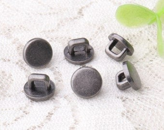 light black zinc alloy buttons 10pcs 8*5mm small buttons metal shank buttons round buttons square shank buttons