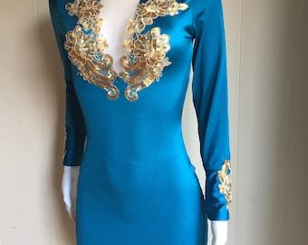 Teal Sexy Dress
