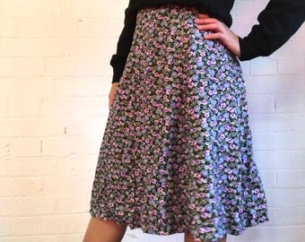 Ditsy floral a-line skirt