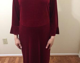 1990s kathie lee womans dress , full length , size large , 12/14