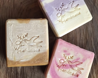 Goats milk soap bar avocado oil handmade gift set small batch made with care strawberry lilac oatmeal milk and honey