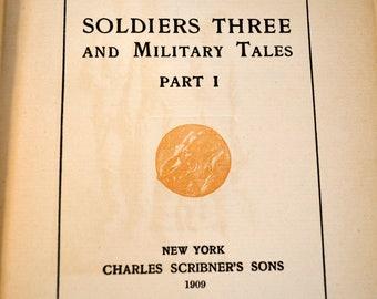 Soldiers Three & Military Tales-Book By Rudyard Kipling-1909