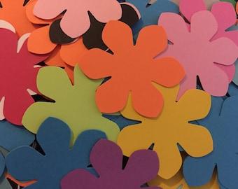 50 Paper Cardstock Flowers, Die Cut Flowers