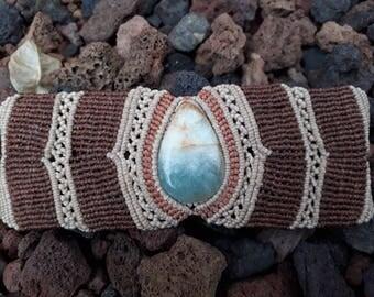 Macrame Bracelet with Sky Onyx