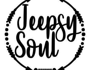 Jeepsy Soul Vinyl Decal