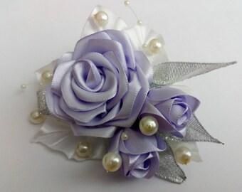 Kanzashi hair clip, kanzashi hair pin, wedding kanzashi hair clip,