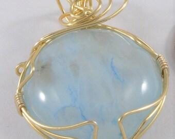 Blue Crystal Pendant