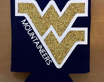 WV West Virginia Mountaineers Can Sleeve