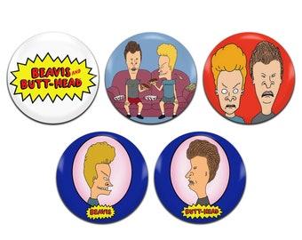 5x Beavis and Butt-Head TV Series 25mm / 1 Inch D Pin Button Badges