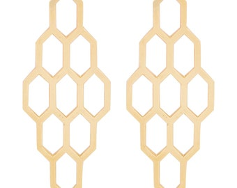 Honeycomb Earrings 10k gold