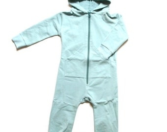 One piece overall Light blue