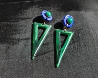Celluloid earrings vintage