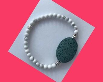 Lava Rock Diffuser Bracelet Howlite