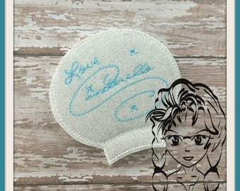 PRiNCESS CiNDY AUToGRAPH Ear (Add On ~ 1 Pc) Mr Miss Mouse Ears Headband ~ In the Hoop ~ Downloadable DiGiTaL Machine Emb Design by Carrie