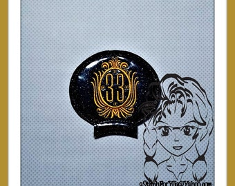 33 Club Logo Ear (Add On  ~1 Pc) Mr Ms Mouse Ears Headband ~ In the Hoop ~ Downloadable DiGiTaL Machine Embroidery Design by Carrie