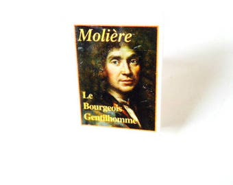 Ring -- Mini Book Ring MOLIERE, French literature, theatre, plays, comedy, by The Sausage