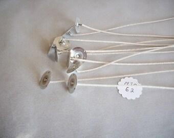 candle wicks,zinc wicks,zinc 62-32-18 wicks,10 pack,candle making,craft supplies,candles