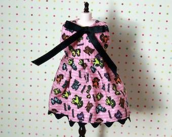 Bitter Squeaks x Dear Girlface Pink Squeak Squeak! Doll Dress for Blythe