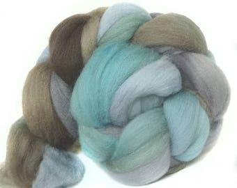 Shetland handdyed wool roving top spinning or felting fiber 3.6 oz