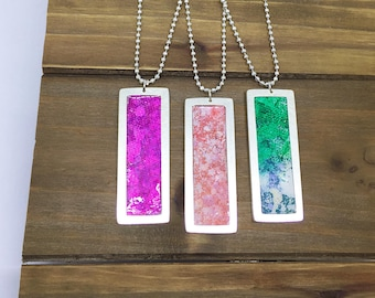 Painted Frame Necklaces
