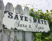 Save The Date Wedding Sign | Personalized Sign with Names and Wedding Date | Rustic Save the Date Sign | We're Engaged | Future Mr and Mrs