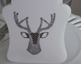Deer tags - set of 10 - perfect for gift tags, holiday parties, classroom treats, etc.!