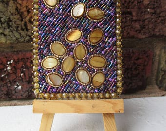 Don't Spill Your Pills - Seed Bead Embroidered ACEO