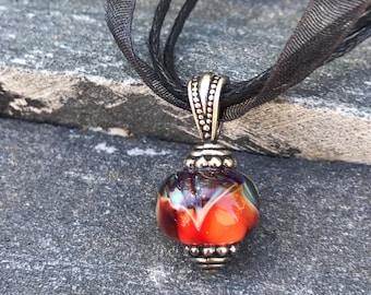 Pendant Necklace - Purple Glass Necklace