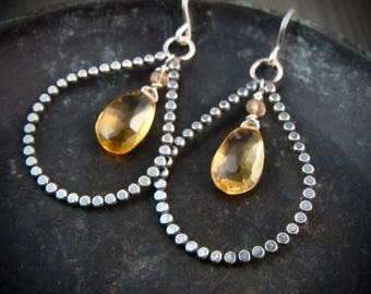 honey drops ... citrine earrings ...
