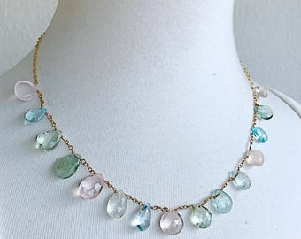 Briolette Neutral Spectrum Necklace