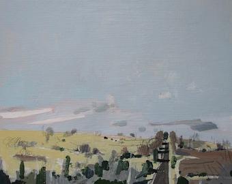Reckoning, Original Autumn Landscape Painting on Card, Stooshinoff