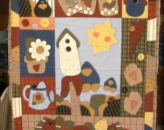 Country  Fabric Wall Art Panel