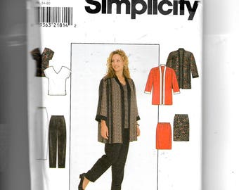 Simplicity Women's Jacket, Top, Skirt and Pants Pattern 8214