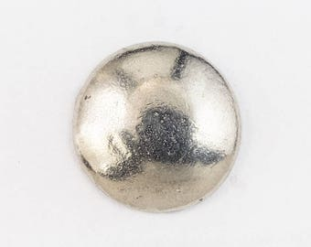 19.5mm Antique Silver Pewter Dome Button #BUT062A