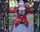 Queen of Hearts Costume | Halloween Costume, Alice in Wonderland Wedding, Womens Costume, Adult Costume, Red Queen Costume,